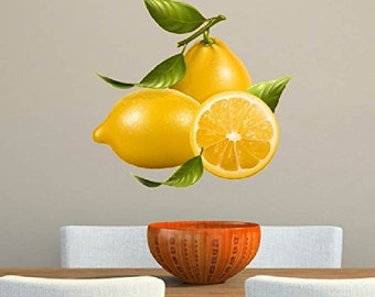 Lemons Fruits Healthy Eating Large Kitchen Restaurant Wall Decal