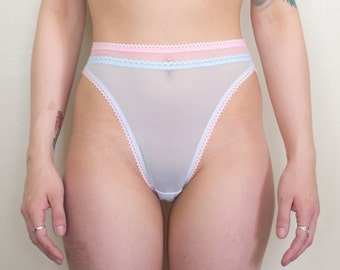 Pantone Rose Quartz & Serenity High Leg Panties - Sweet Tooth Lingerie