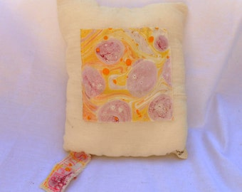 Marbled Fabric Pillow - Skin Cells