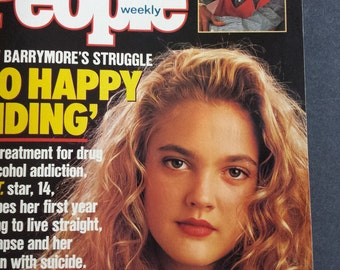 Drew Barrymore ~ People Magazine ~ 1990