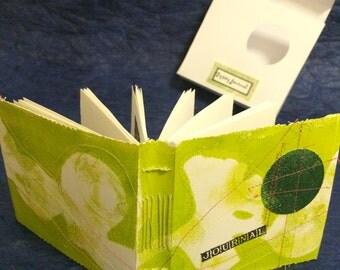 gypsy Journal, leaf green, unique handbound book, boxed
