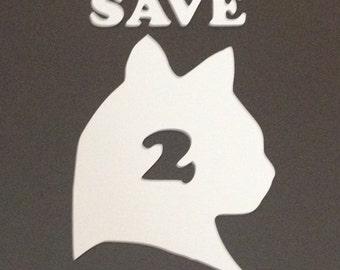 Save my cats emergency window sticker.
