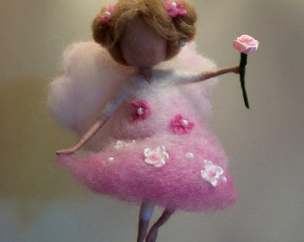 Needle felted Angel, Waldorf inspired,  Wool Fairy, Home decor, Mobile, children room, Art doll, Doll miniature, Felted fairy