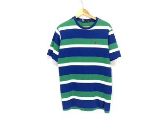 POLO STRIPED T-SHIRT // 90s // Striped // Polo Shirt // Striped T-Shirt // Striped Shirt // Polo T-Shirt // 90s Striped Shirt / Ralph Lauren