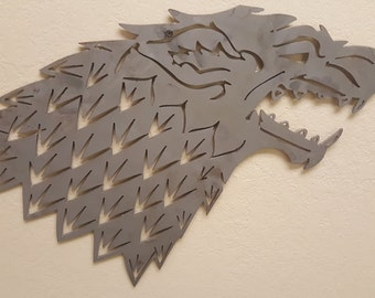 Game of Thrones, Sigil of House Stark Direwolf, Metal / Wall Art