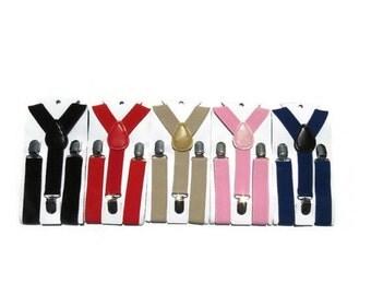 0-3t suspnders. Burgundy. Grey. Pink. Tan. Blue. Black. Baby suspenders. Toddler suspenders.