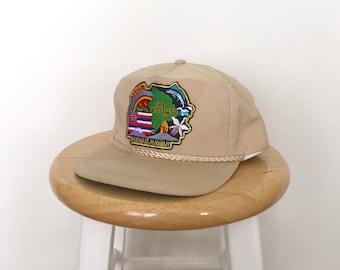 THE BIG ISLAND Hawaii Tan Baseball Cap