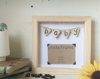 custom wood letter bunting frame small made to order up to 5 characters