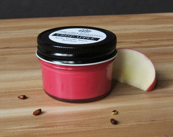 Apple Candle    Hand Poured    Organic Soy Candle // 4 oz. Jar