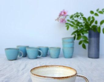 cappuccino mug, white mug, ceramic mug,handmade coffee mug, coffee lovers gift,ceramic cappuccino cup,italy cappuccino cup,rustic coffee mug