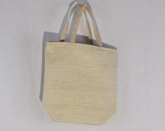 Beige Tapestry Tote Bag