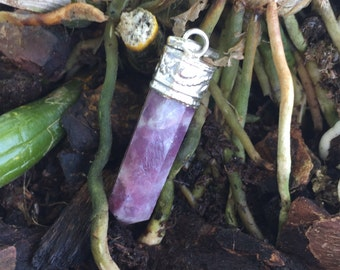 Lepidolite Pendulum Pendant- Reiki Jewelry Perfect for Gift
