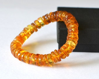 Amber Bracelet - Baltic Amber - Yellow Amber Bracelet - Amber Jewelry - Natural amber