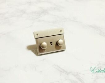Bouton de verrouillage fermeture deux bouton poussoir verrouillage sac Lock Verrou Lock sac à main haut de gamme