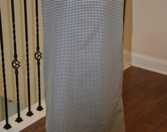 Maxi Houndstooth Black and White Skirt, Medium