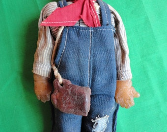 Antique Wax Folk Art Doll