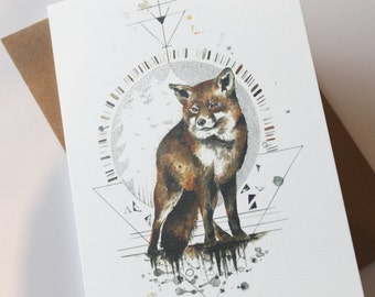 Fox In The Woods - Greeting Card