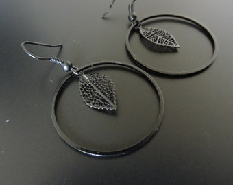 Prints leaves earrings