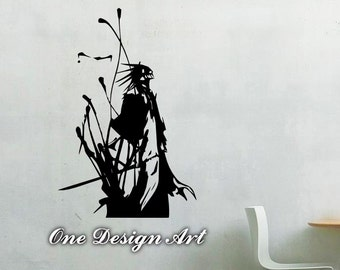Kenpachi Zaraki Bleach Mural Arts Vinyl Decals Wall Sticker Home Decor