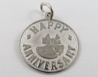 Happy Anniversary Sterling Silver Charm or Pendant.