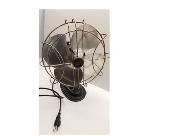 Vintage Dark Green Arctic Aire Desk Fan Works Great