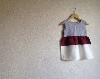 Girls linen dress Baltic linen crochet dress Girls linen dress girls Linen dress small Childrens linen dress