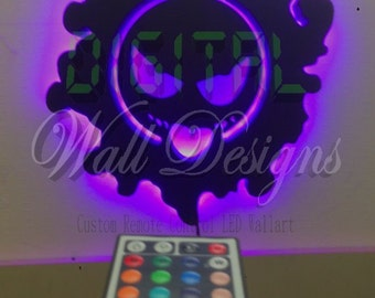 Remote Activated Ghastly Pokemon LED Backlit Wall Art kids children night light