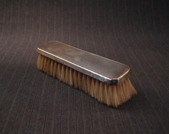Sterling Silver Clothes Brush, Monogram, English [Vintage]