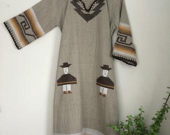 Amazing Embroidered Wool Ethnic Tunic / Dress