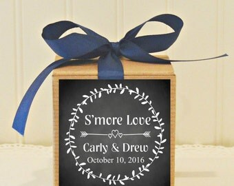 12 Wedding Favor Cupcake Boxes, Black Chalkboard Style Personalized Labels, Wedding Favors, Personalized Favor Box, Personalized Cupcake Box
