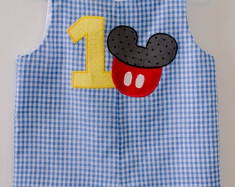 Mickey Mouse 1st Birthday Jon Jon, Mickey Mouse Romper, Mickey Mouse Jon Jon