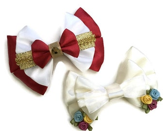 Cinderella & Prince Charming Wedding Dress Inspired Hair Bow