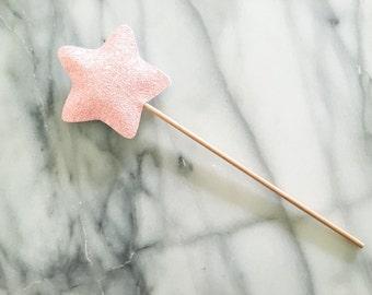 Children's Pastel Pink Star Wand, Magic Wand, Pink Magic Wand, Toy Wand, Fairy Wand, Glitter Wand, Costume Wand, Photo Prop