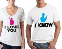 I love you, I know - Star Wars Couple Shirts