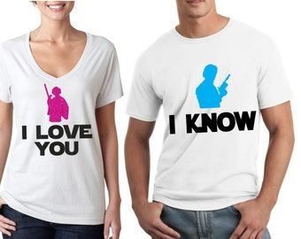 I love you, I know - Star Wars Couple Shirts