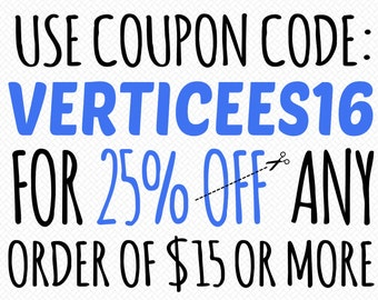 SALE: Save 25% at Verticees Papercraft!