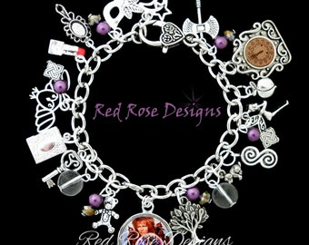 Labyrinth Themed Charm Bracelet