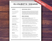 Resume Template Word + Free Cover Letter, CV Template, Teacher, Modern Professional Resume Template Design, DIY Template Instant Download
