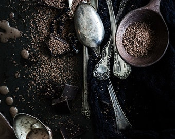 Food Photography, Chocolate, Photography, Home Decor, Wall Art, Kitchen Art, Gifts for Foodies