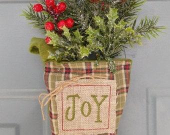 Christmas Decoration - Christmas Door Hanger - Holiday Decoration - Holiday Door Hanger - Stocking Door Hanger - Holiday Gifts-Gifts for Her