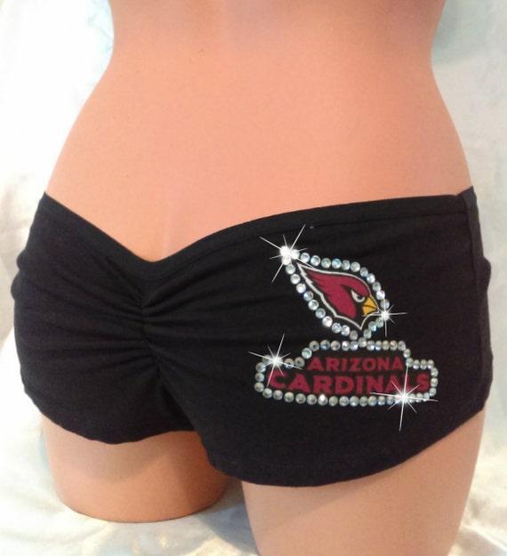 Women's Arizona Cardinals Black Cameo Knit Shorts