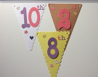 Personalised ditsy floral bunting flags