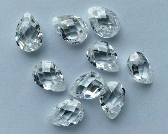 10x7 Crystal CZ briolette lot
