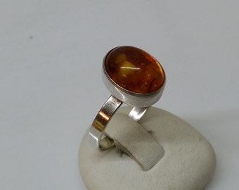 Fischland 835 silver ring with amber SR377