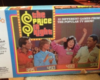 Vintage c. 1986 Milton Bradley The Price is Right TV Show Board Game