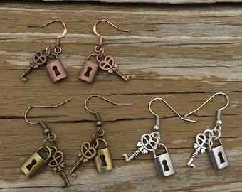 Lock & Key Earrings