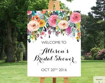 Bridal Shower Decorations, Bridal Shower Banner, Bridal Shower Sign, Printable Bridal Shower Banner, Welcome Sign Bridal Shower, Floral