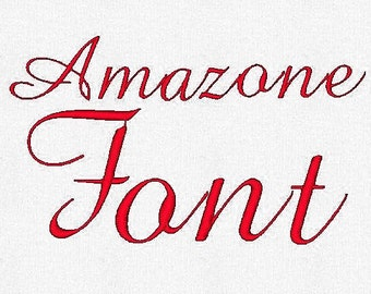 Amazon Embroidery Font  1,2,3 Inches, Instant Download