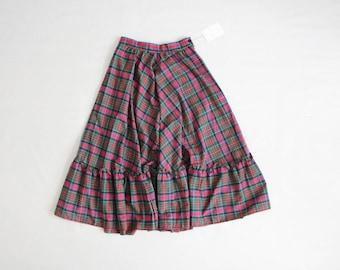 christmas plaid skirt   full skirt   plaid party skirt