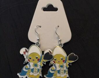 Silver Plated Nintendo Pokemon Cosplay Pikachu Belle Earrings